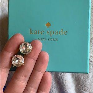 Kate spade square diamond studs.